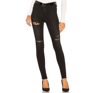 Free People | Long and Lean Black Destroyed Jeans